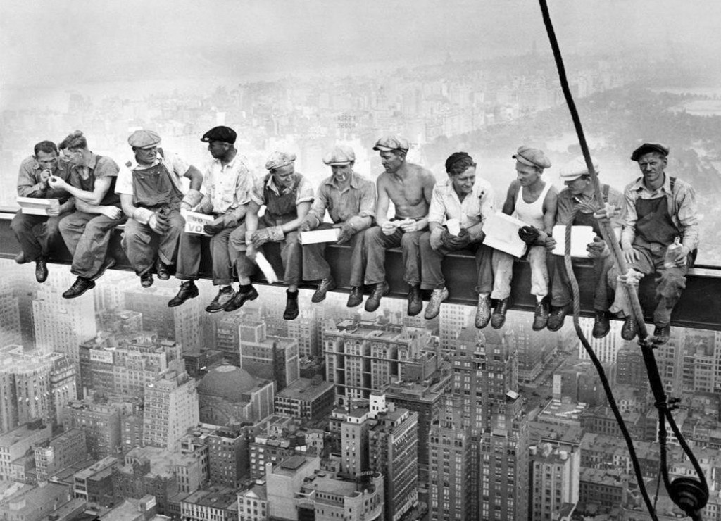 Lunch atop a Skyscraper - Iconic Historical Photo, 1932