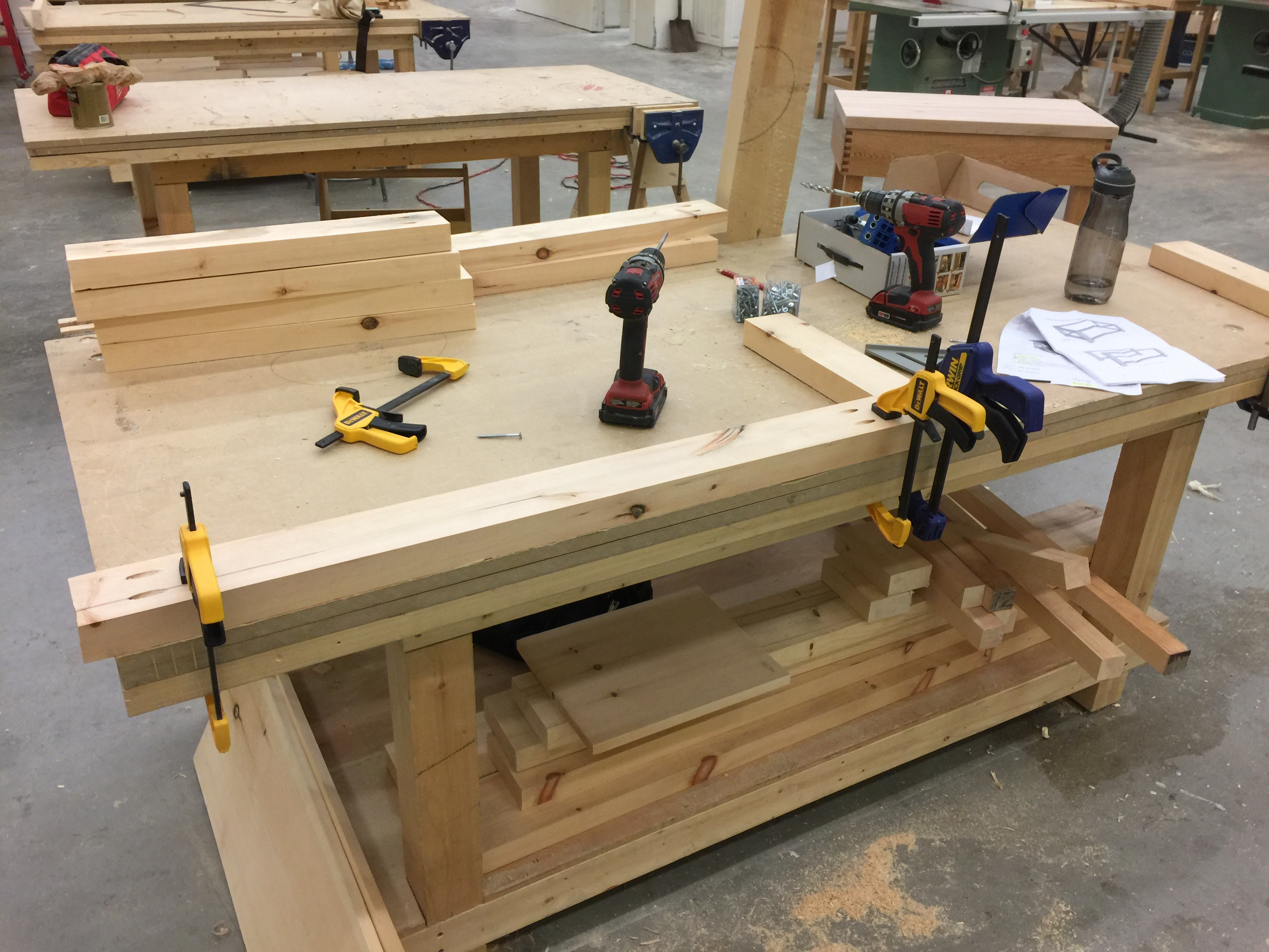 adventures in woodworking: coffee table - hard hat hunter Woodworking Coffee Table