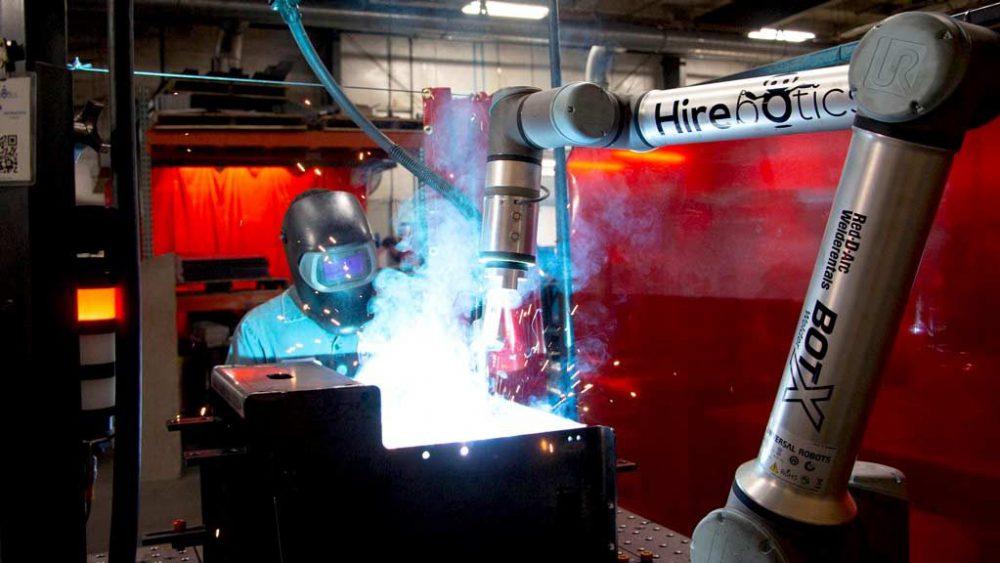 Hirebotics robots welding