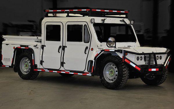 The Marmot electric vehicle, designed for underground hardrock mining