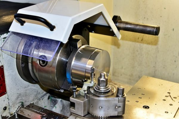 lathe with guard